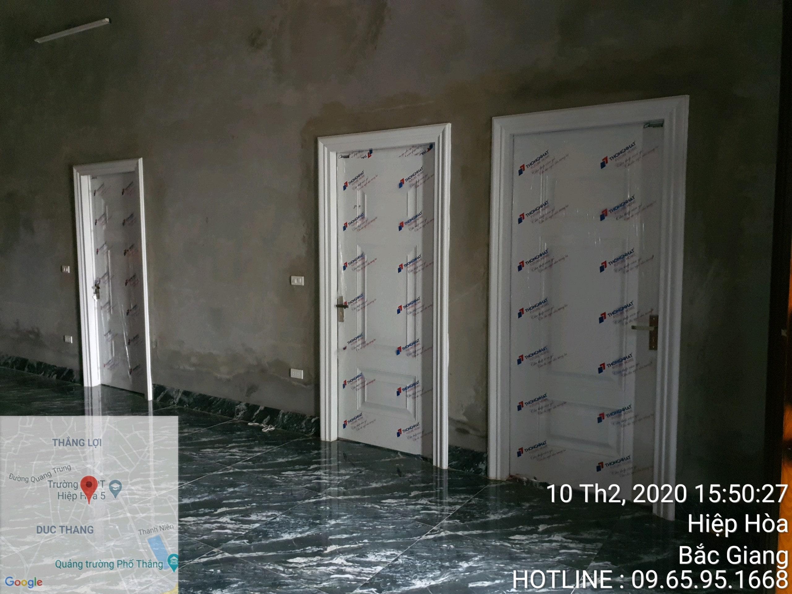 Bàn giao công trình cửa thép vân gỗ hiện đại tại Đức Thịnh, Hiệp Hòa