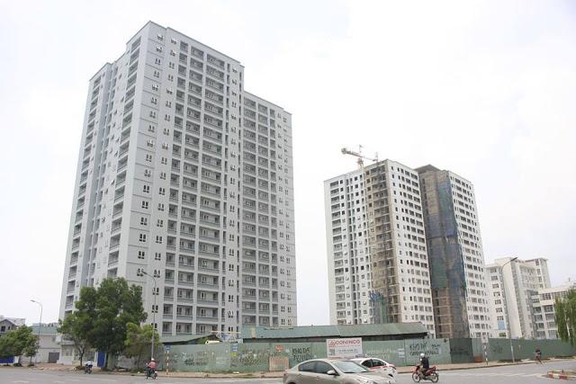 Khu nhà ở cao tầng tái định cư trên ô đất A14 thuộc khu tái định cư Nam Trung Yên